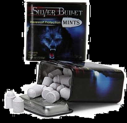Halloween Candy For Sale Werewolf Silver Bullet Mints